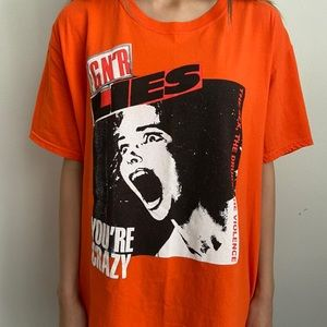 Vintage Guns N Roses Screaming Girl Orange Shirt